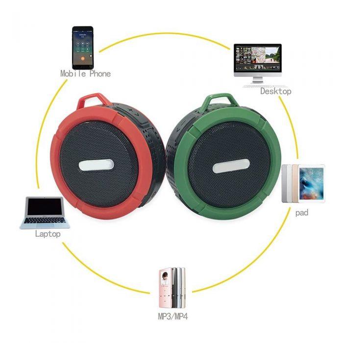SC6 Promotional Outdoor IPX4 Waterproof Speaker Wireless Bluetooth Speaker with TF card 8