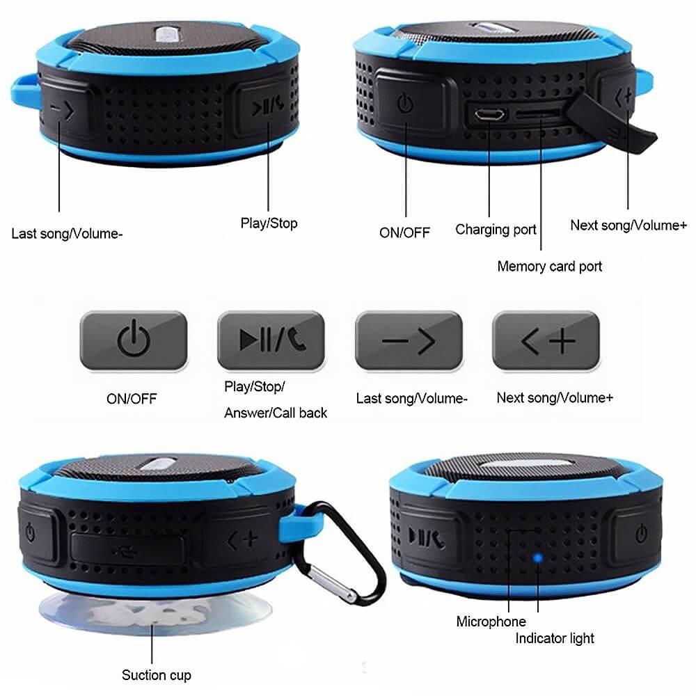 SC6 Promotional Outdoor IPX4 Waterproof Speaker Wireless Bluetooth Speaker with TF card 12