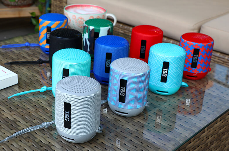 STG129 mini Speaker Outdoor Portable Mini Speakers Wireless Outdoor Portable with TF Card 5