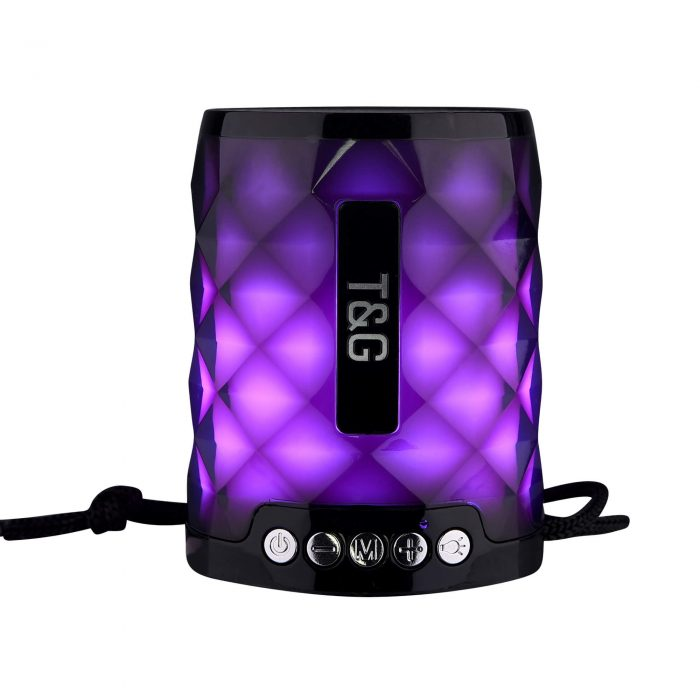 STG155 Bluetooth Wireless Speaker with FM Radio and TF Card Mini Portable Speaker with LED Light 2
