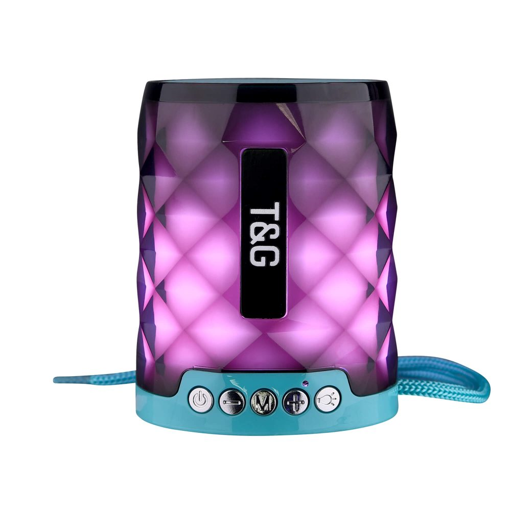 STG155 Bluetooth Wireless Speaker with FM Radio and TF Card Mini Portable Speaker with LED Light 10