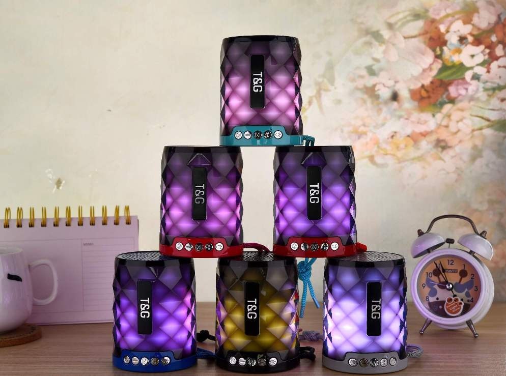 STG155 Bluetooth Wireless Speaker with FM Radio and TF Card Mini Portable Speaker with LED Light 18