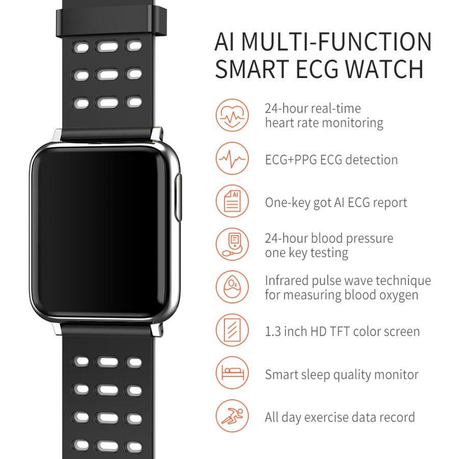 SV5 Smart Watch ECG+PPG Blood Pressure Heart Rate Blood Oxygen Monitoring Smart Band 20