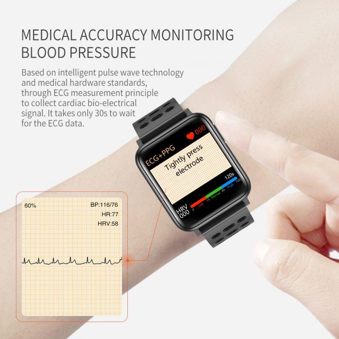 SV5 Smart Watch ECG+PPG Blood Pressure Heart Rate Blood Oxygen Monitoring Smart Band 4