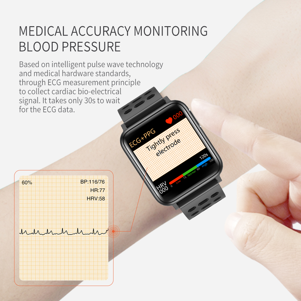 SV5 Smart Watch ECG+PPG Blood Pressure Heart Rate Blood Oxygen Monitoring Smart Band 4