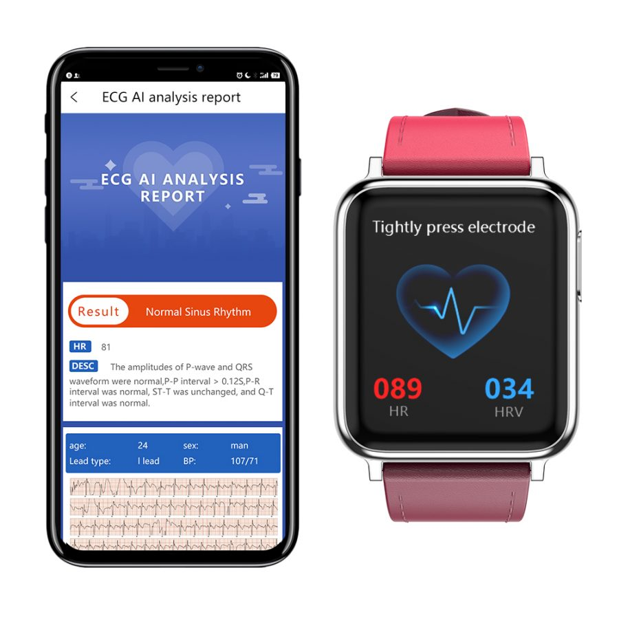 SV5 Smart Watch ECG+PPG Blood Pressure Heart Rate Blood Oxygen Monitoring Smart Band 18