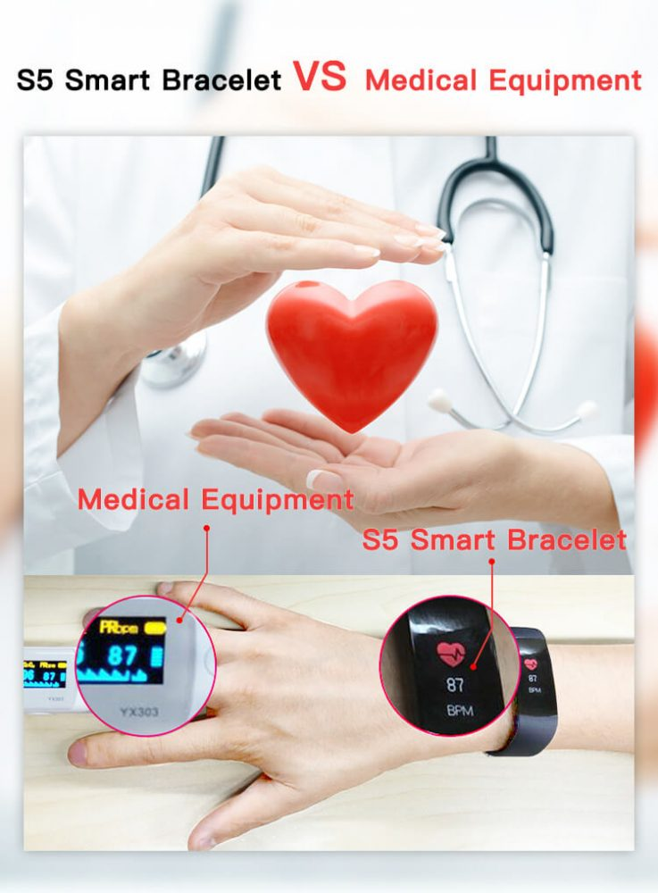 S-15 Colorful Screen Smart Wristband Medical Level Heart Rate Sports Bracelet Pedometer 20