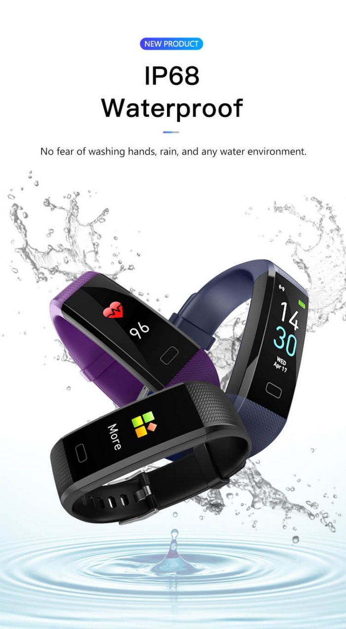 S-15 Colorful Screen Smart Wristband Medical Level Heart Rate Sports Bracelet Pedometer 8