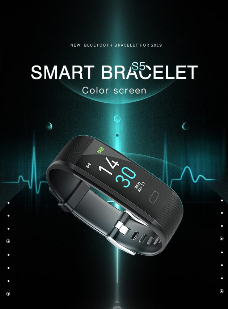 S-15 Colorful Screen Smart Wristband Medical Level Heart Rate Sports Bracelet Pedometer 10