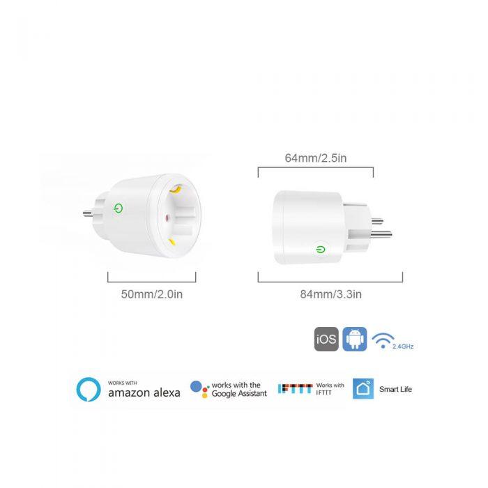 BD-34 Wifi Plug EU Wifi Electrical Outlet 16A EU Socket Outlet 8