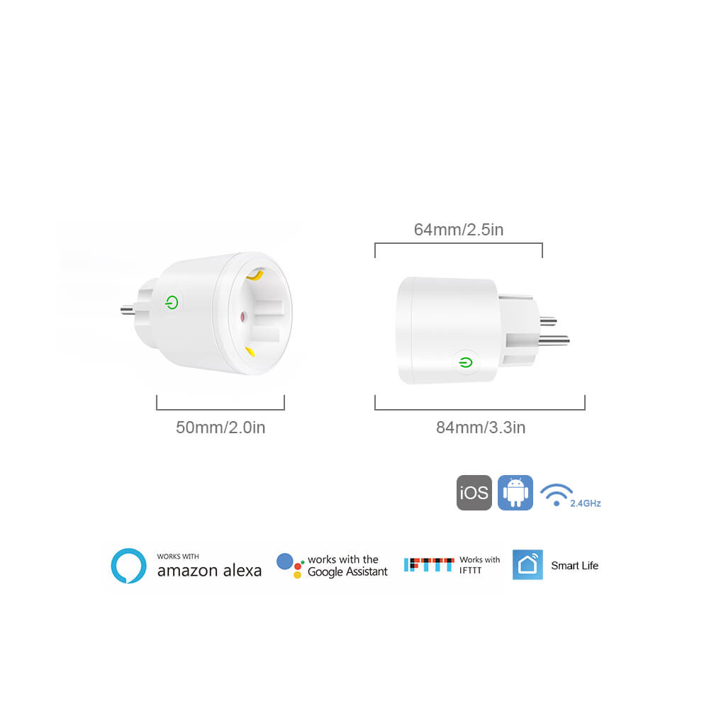 BD-34 Wifi Plug EU Wifi Electrical Outlet 16A EU Socket Outlet 7