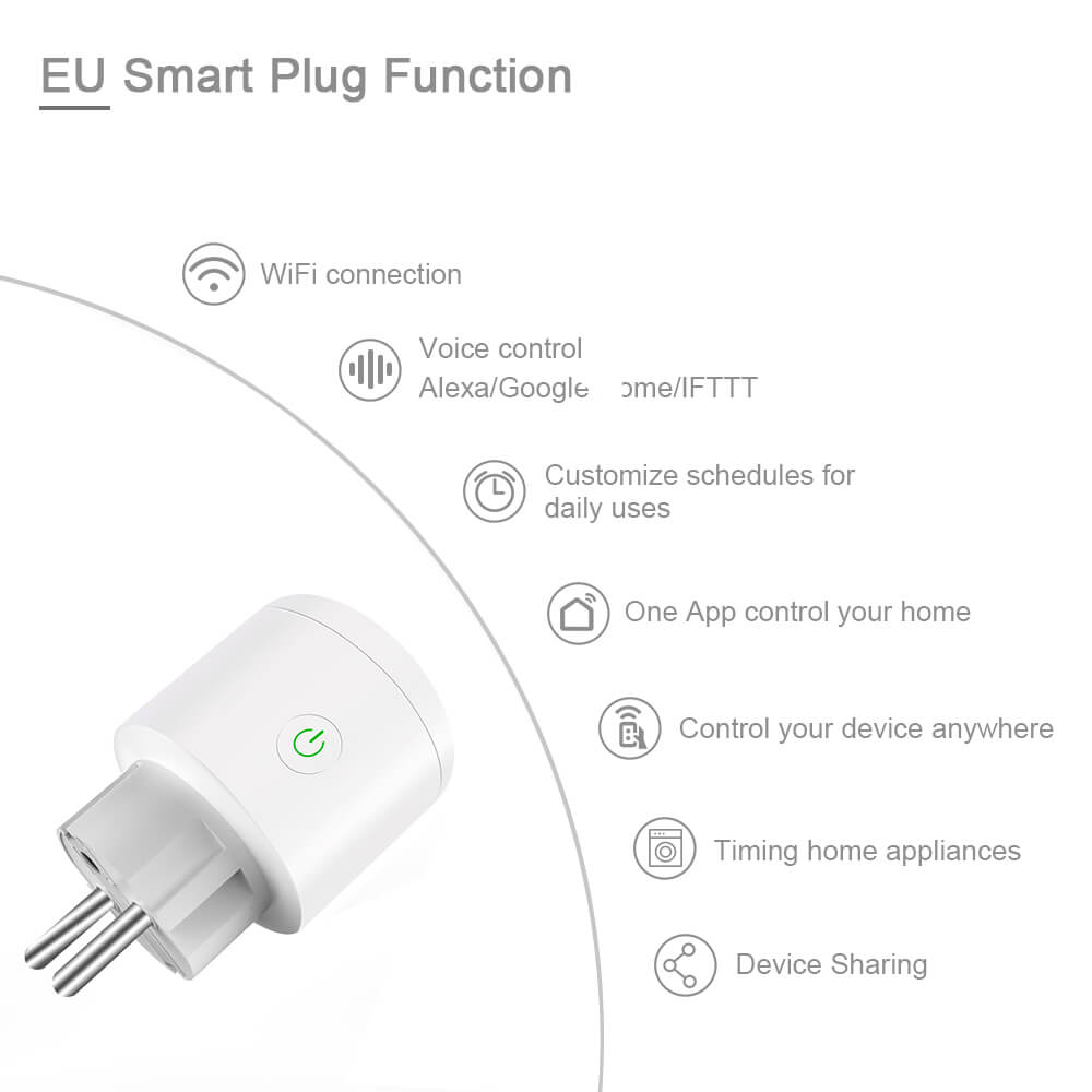 BD-34 Wifi Plug EU Wifi Electrical Outlet 16A EU Socket Outlet 10