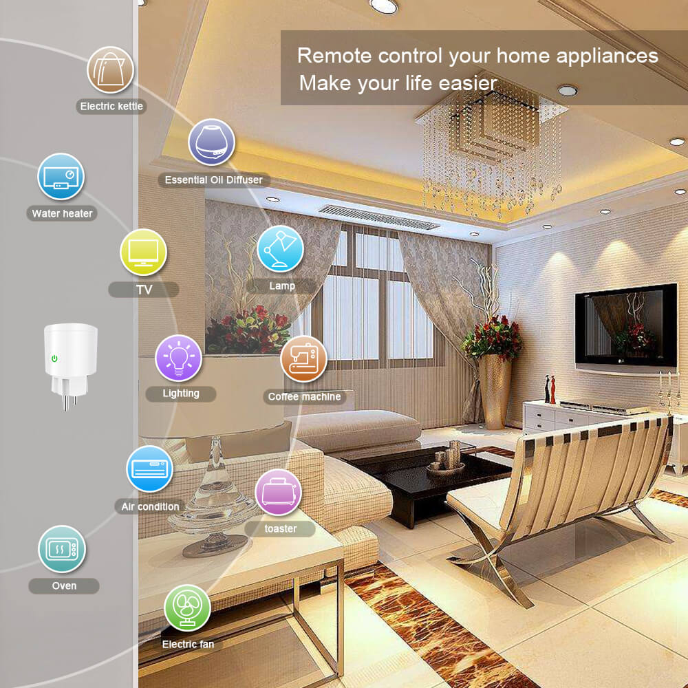 BD-34 Wifi Plug EU Wifi Electrical Outlet 16A EU Socket Outlet 12