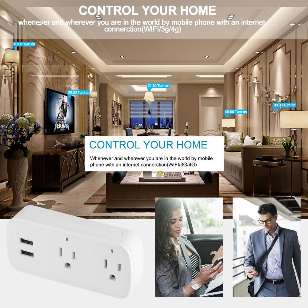 BD-08 Wifi Plug Socket US Wifi Power Outlet with USB 12