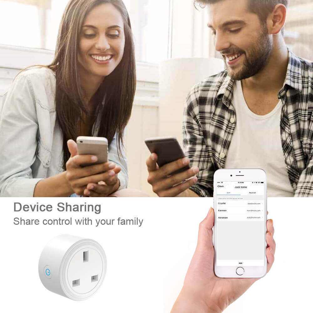 BD-29 Wifi Plug UK Smart Socket On Smart Life APP work with Alexa google home 20