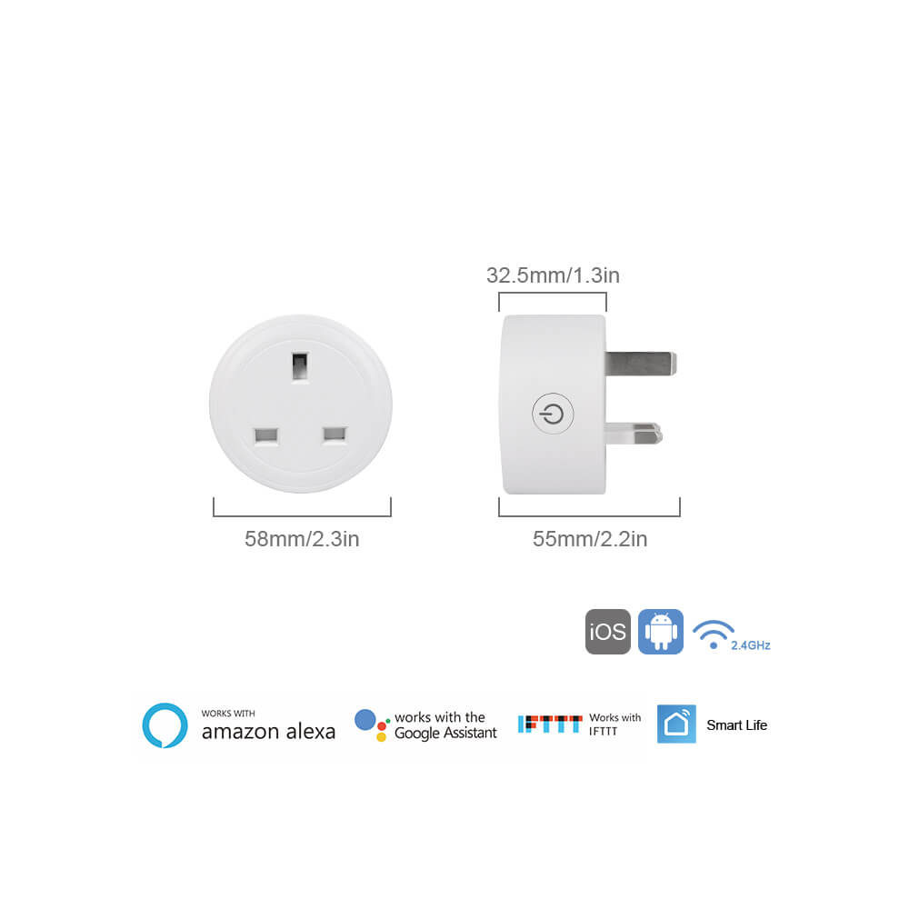 BD-29 Wifi Plug UK Smart Socket On Smart Life APP work with Alexa google home 7