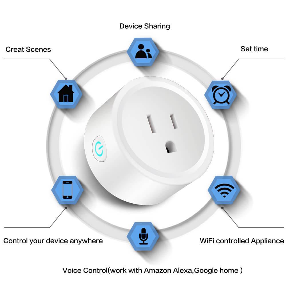 BD-01 110V Wifi Smart Home Plug US Standard Wifi plug Wifi Alexa 10