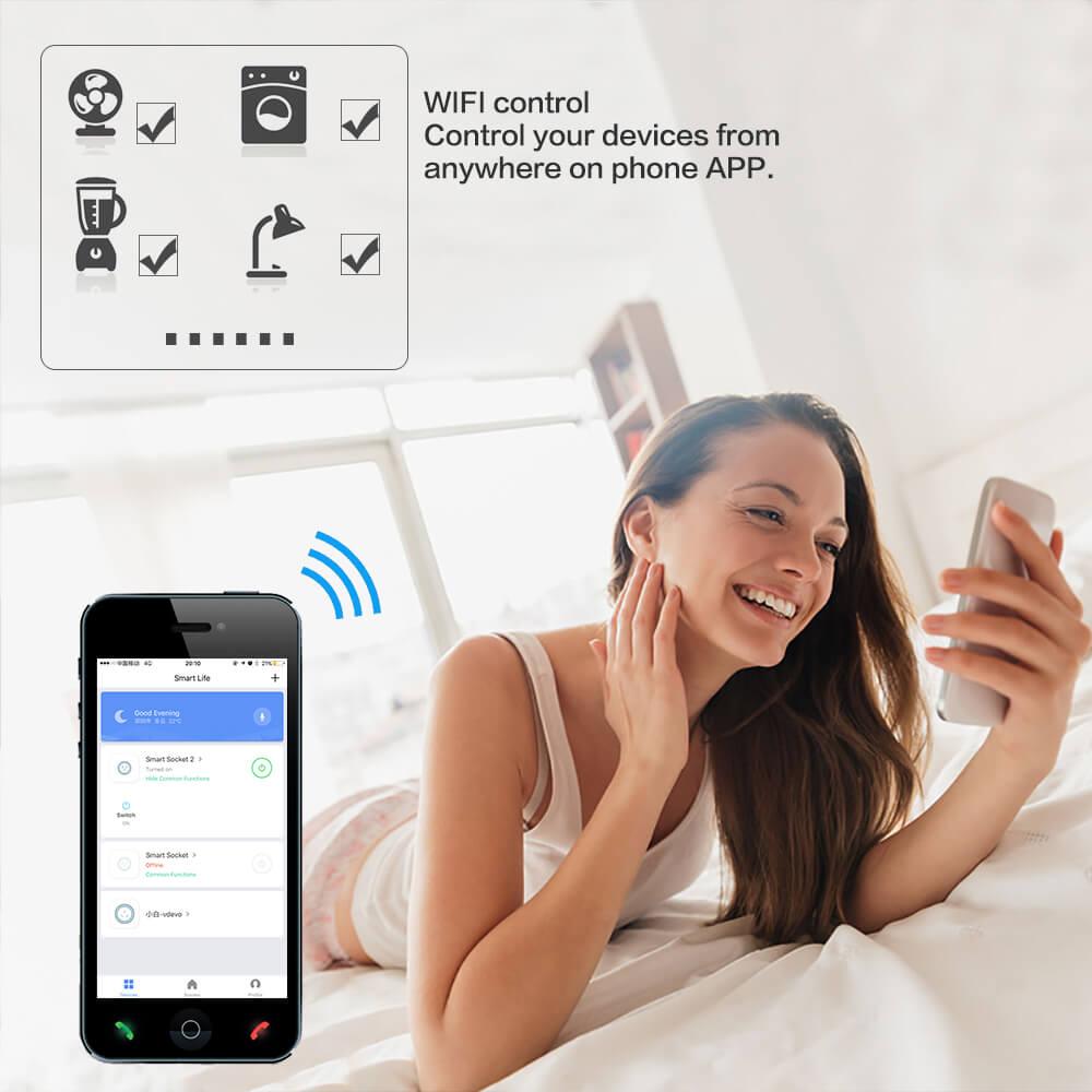 BD-01 110V Wifi Smart Home Plug US Standard Wifi plug Wifi Alexa 12