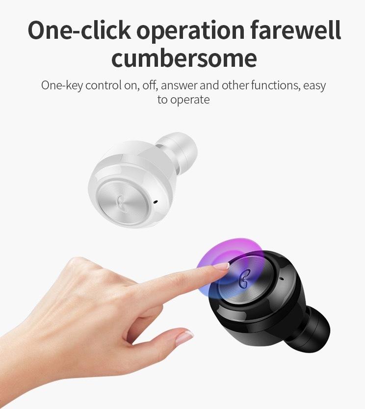 Hot sale Wireless Earphone Bluetooths 5.0 A6 tws Earbuds Twins Mini Bluetooth True Wireless Headset 24