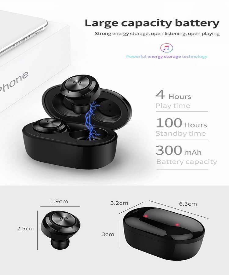 Hot sale Wireless Earphone Bluetooths 5.0 A6 tws Earbuds Twins Mini Bluetooth True Wireless Headset 28