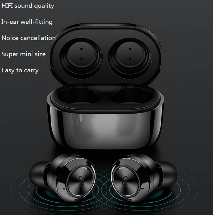 Hot sale Wireless Earphone Bluetooths 5.0 A6 tws Earbuds Twins Mini Bluetooth True Wireless Headset 30