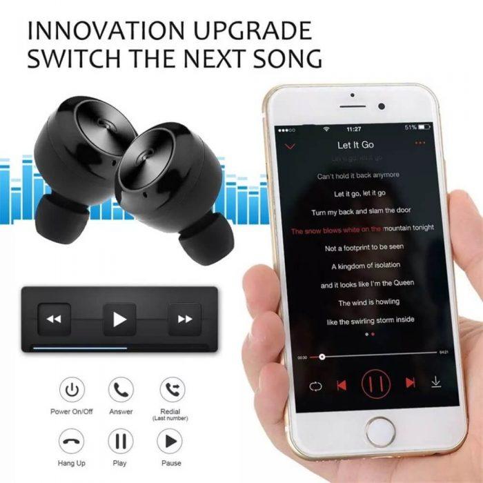 Hot sale Wireless Earphone Bluetooths 5.0 A6 tws Earbuds Twins Mini Bluetooth True Wireless Headset 8