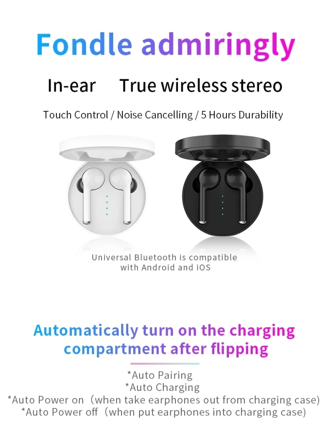 2019 bluetooth earphone best wireless earbuds tws 5.0 with handsfree 20