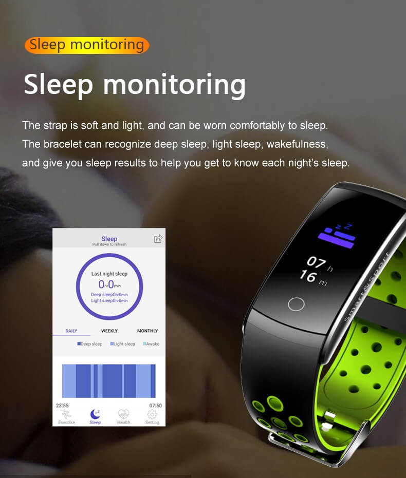 Newest Smartwatch Q8S ip68 Waterproof Heart Rate Monitor Smart Band Fitness Tracker 20
