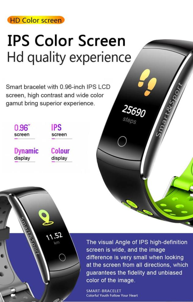 Newest Smartwatch Q8S ip68 Waterproof Heart Rate Monitor Smart Band Fitness Tracker 26