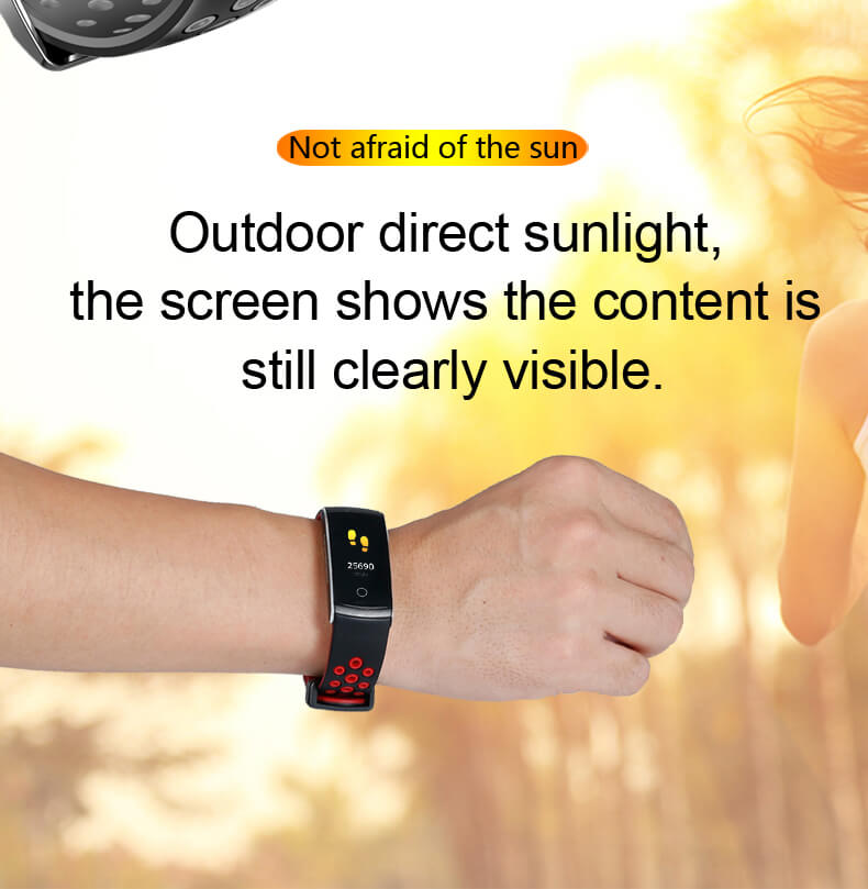 Newest Smartwatch Q8S ip68 Waterproof Heart Rate Monitor Smart Band Fitness Tracker 12