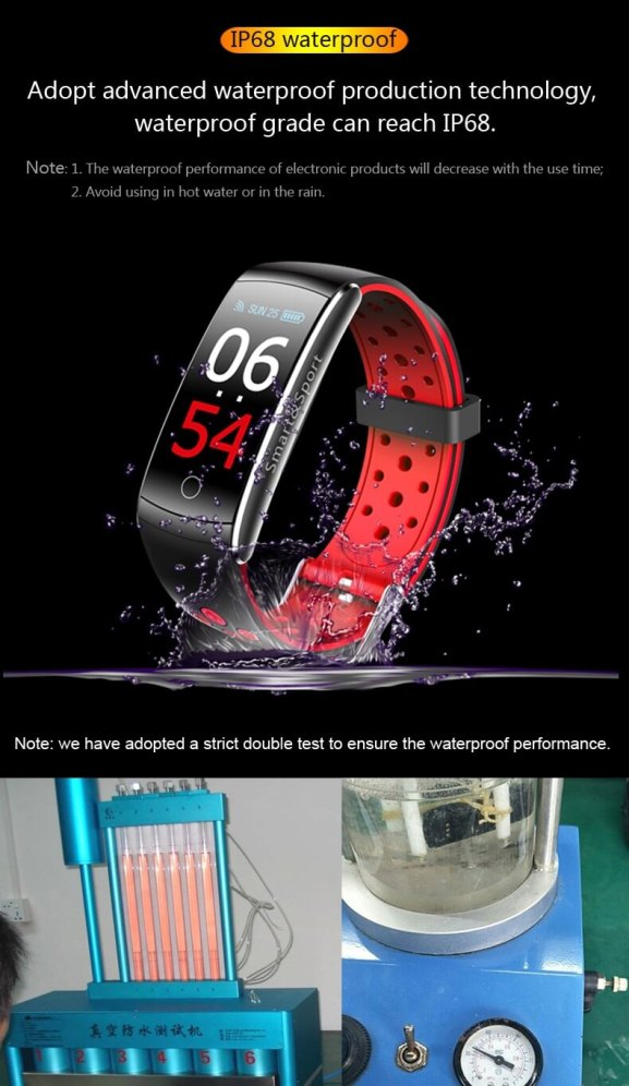 Newest Smartwatch Q8S ip68 Waterproof Heart Rate Monitor Smart Band Fitness Tracker 16