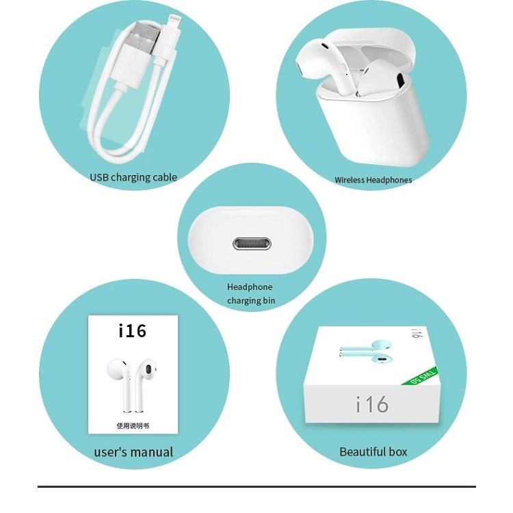 i16 best music mini wireless headphone bluetooth TWS Earbuds for smart phone 28