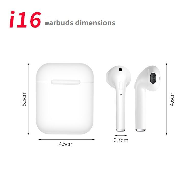 i16 best music mini wireless headphone bluetooth TWS Earbuds for smart phone 7