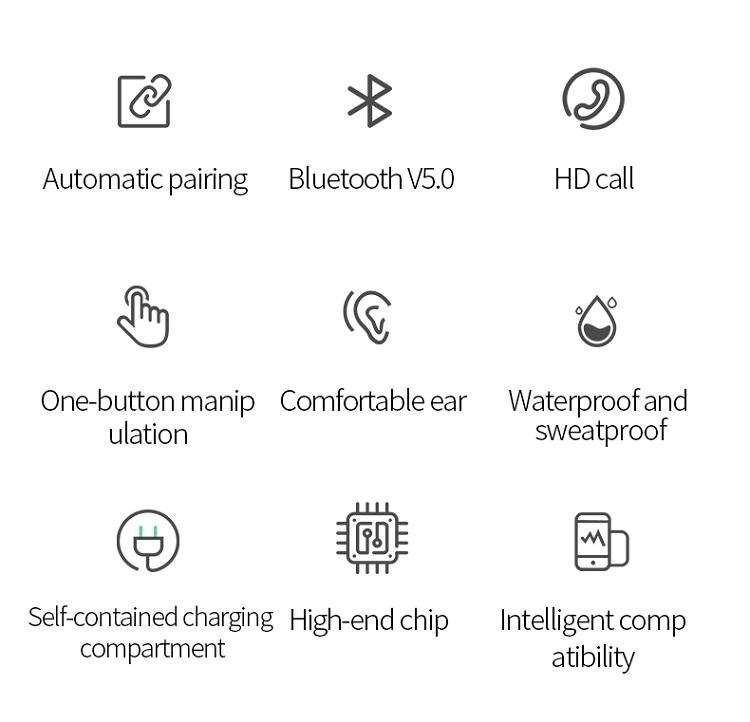 i16 best music mini wireless headphone bluetooth TWS Earbuds for smart phone 16