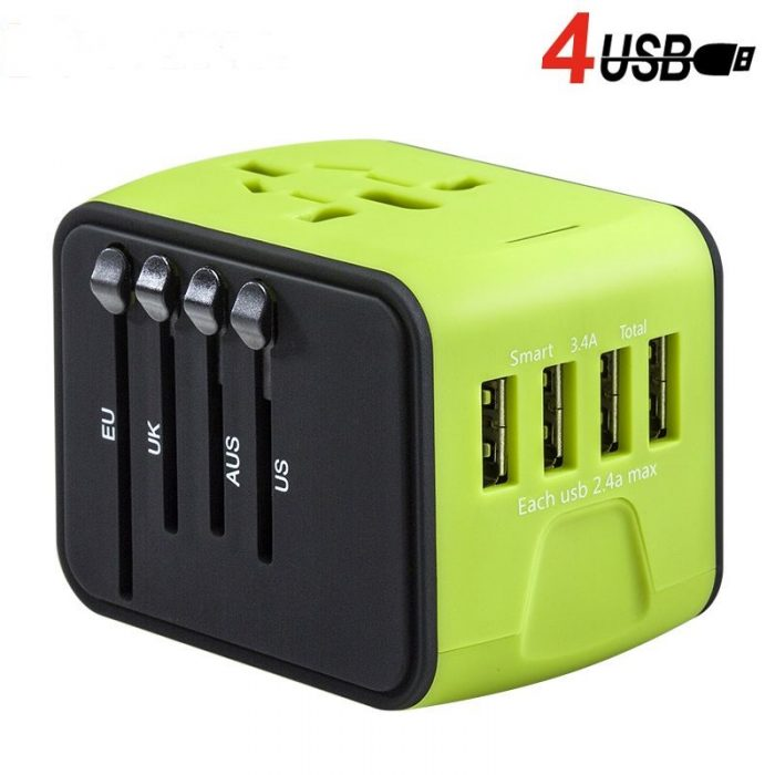 Universal plug adapter 4 usb power adapter usb ac/dc adapter mobile phone accessories 6