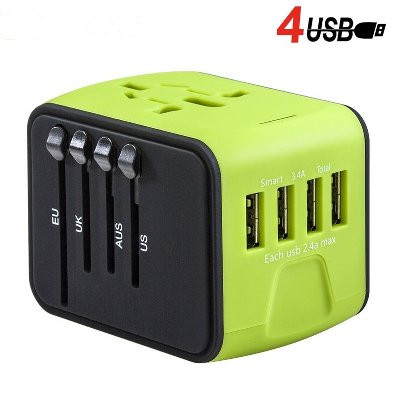 Universal plug adapter 4 usb power adapter usb ac/dc adapter mobile phone accessories 5