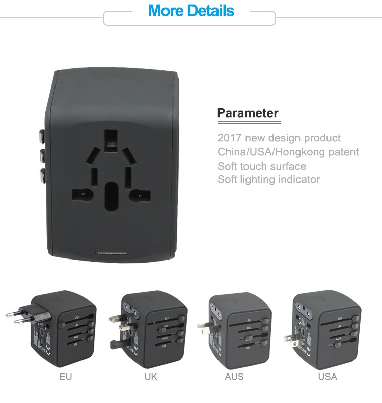 Universal plug adapter 4 usb power adapter usb ac/dc adapter mobile phone accessories 18