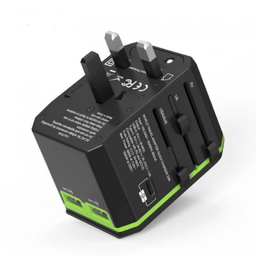 Hot international wall socket 33W PD quick charger usb multi plug adaptor universal travel adapter 10