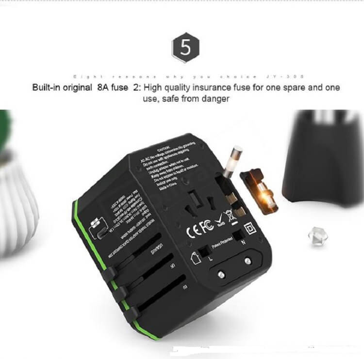 Hot international wall socket 33W PD quick charger usb multi plug adaptor universal travel adapter 34