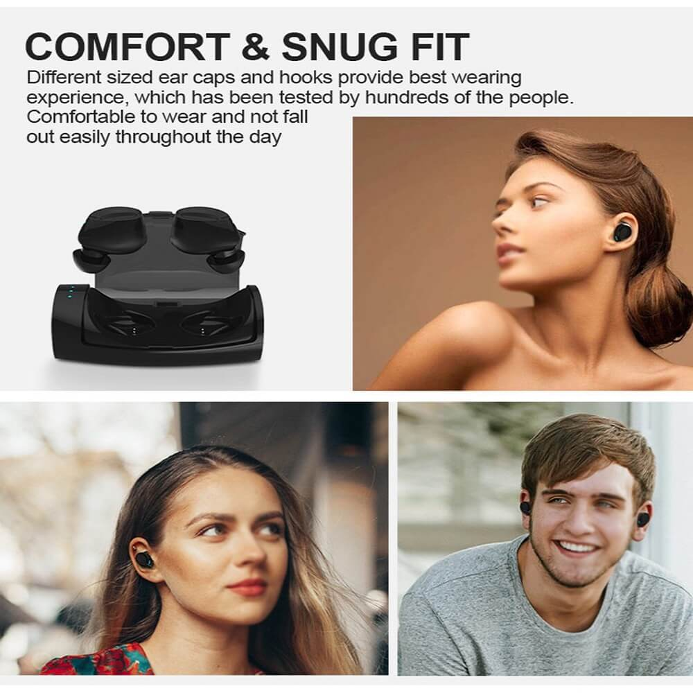 TES60 Wireless Ear Buds With Charging Case For iPhone Android TWS IPX7 Waterproof Wireless Earphone 20
