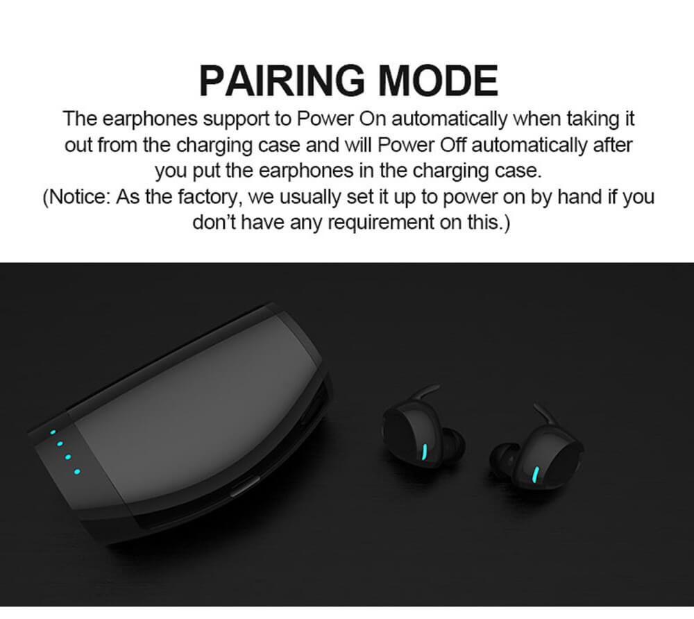 TES60 Wireless Ear Buds With Charging Case For iPhone Android TWS IPX7 Waterproof Wireless Earphone 12