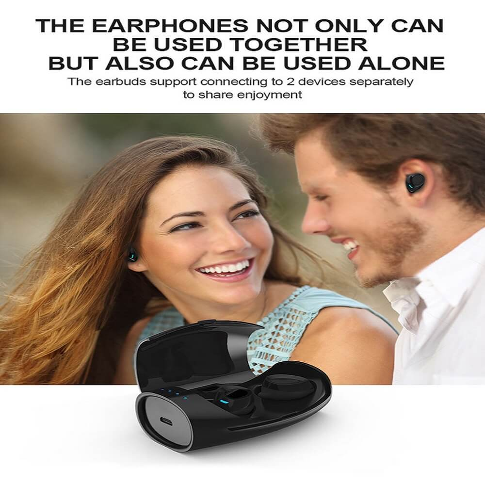TES60 Wireless Ear Buds With Charging Case For iPhone Android TWS IPX7 Waterproof Wireless Earphone 18