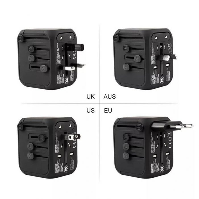 Hot Sale Universal Travel Adapter All-in-one International Power Adapter with 5A type-c 4USB universal travel adaptor 8