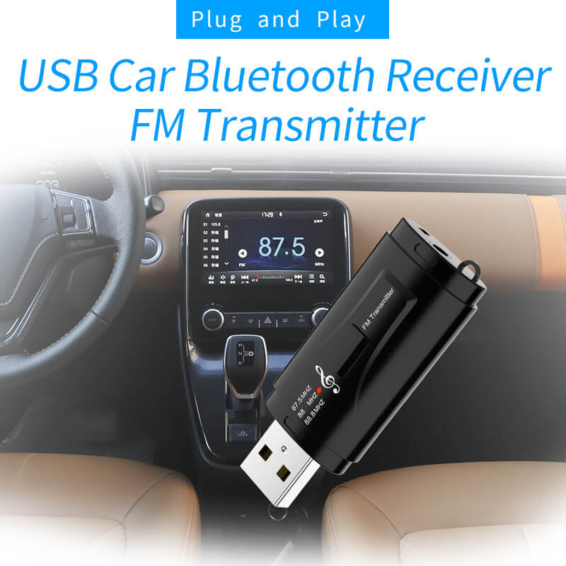 Hot Sale USB Car Bluetooth Receiver and FM Transmitter 3