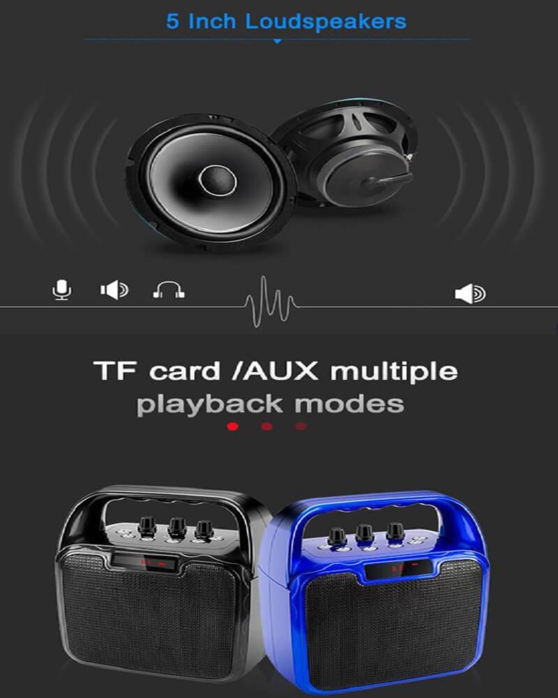 Hot Selling 10W Bluetooth Wireless Amplifier Karaoke Microphone Speaker 24