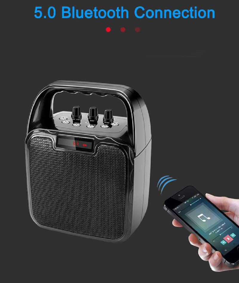 Hot Selling 10W Bluetooth Wireless Amplifier Karaoke Microphone Speaker 26