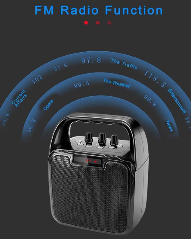 Hot Selling 10W Bluetooth Wireless Amplifier Karaoke Microphone Speaker 28