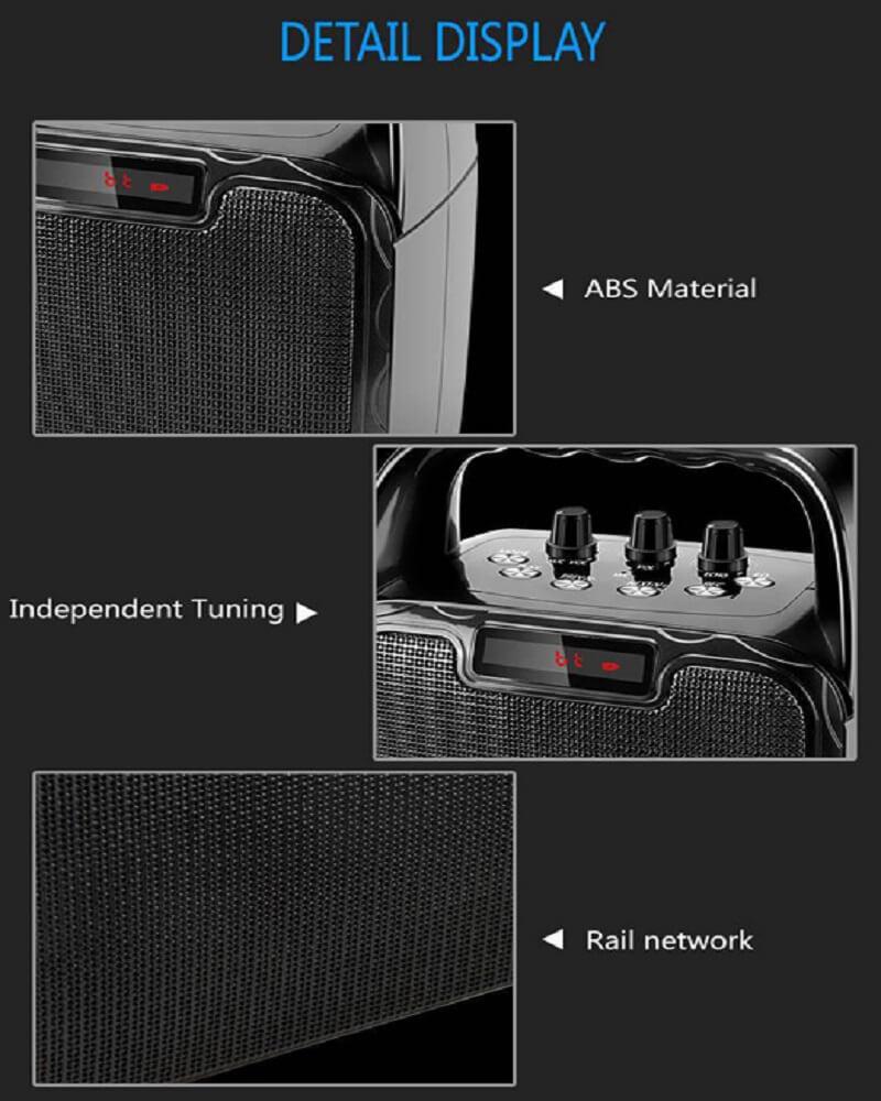 Hot Selling 10W Bluetooth Wireless Amplifier Karaoke Microphone Speaker 22