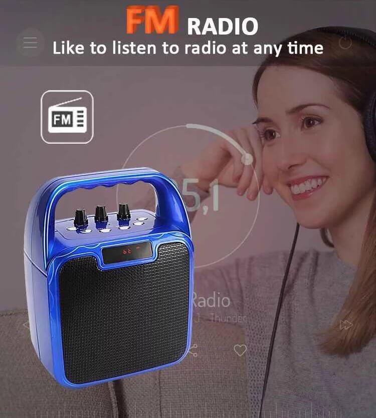 Hot Selling 10W Bluetooth Wireless Amplifier Karaoke Microphone Speaker 7