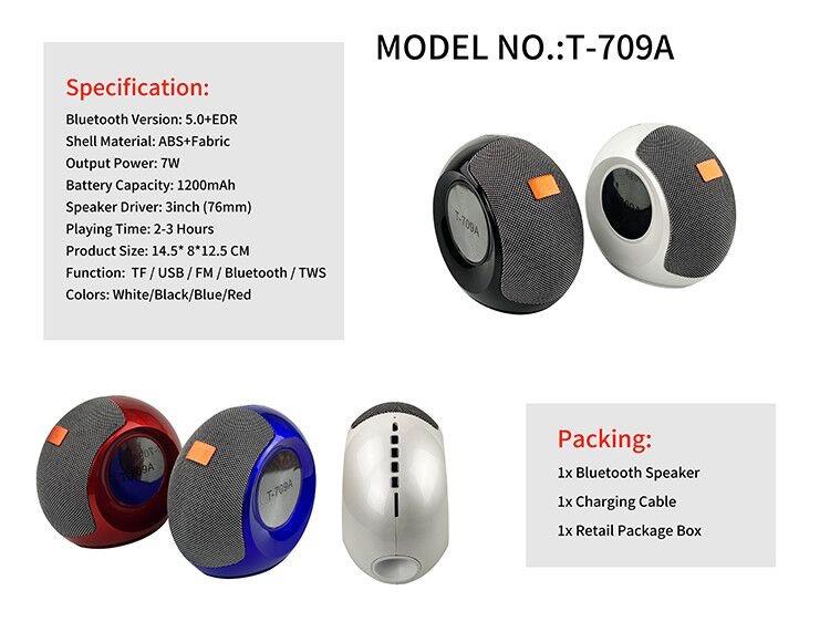 Stereo Bass FM Radio Mini Portable Wireless Bluetooth  Speaker 20